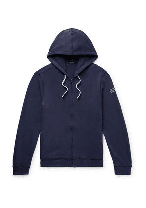 Ermenegildo Zegna - Loopback Stretch-cotton Jersey Zip-up Hoodie - Navy
