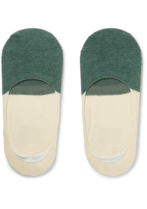 Anonymous Ism - Two-tone Organic Cotton No-show Socks - Green
