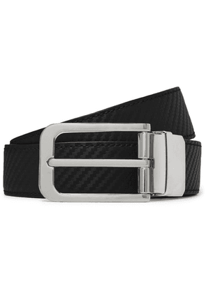 Dunhill - 3cm Black And Brown Reversible Textured-leather Belt - Black