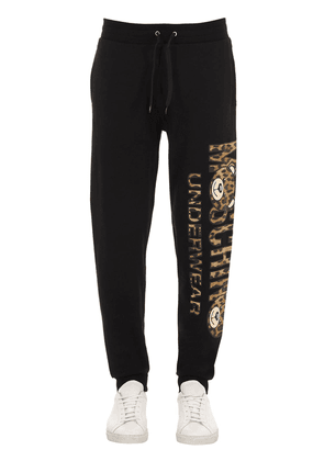 Printed Cotton Jersey Sweatpants