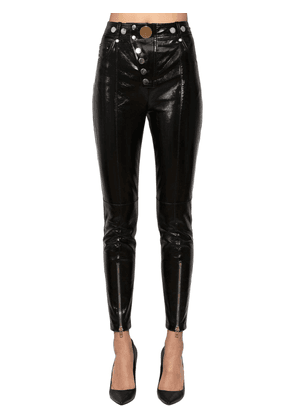 Skinny High Waist Patent Leather Pants