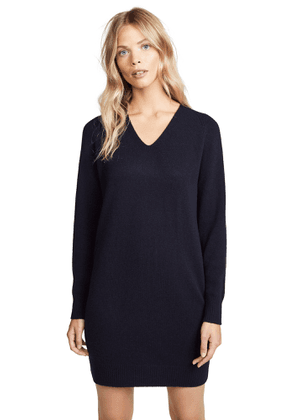 Vince Deep V Neck Raglan Dress