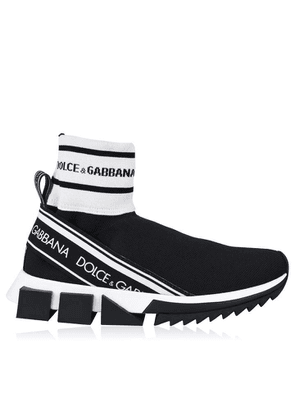 DOLCE AND GABBANA Sorrento High Top Stretch Mesh Trainers