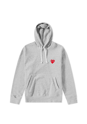 Comme des Garcons Play Women's Pullover Hoody Grey & White