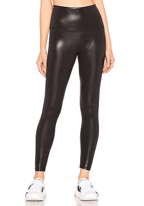 Beyond Yoga Pearlized High Waisted Midi Legging in Black. Size S.