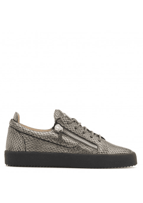 6228dc4094f83 Giuseppe Zanotti - Python-embossed leather low-top sneaker FRANKIE