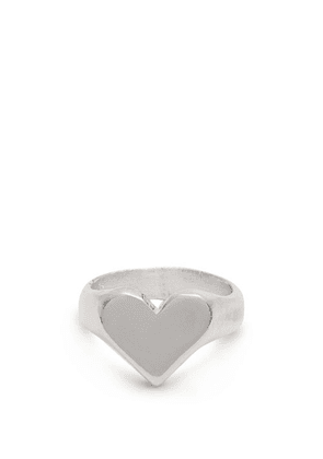 Aris Schwabe - Heart Sterling Silver Ring - Mens - Silver