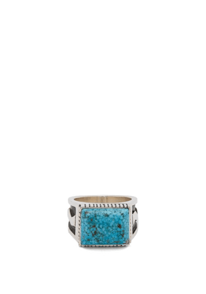 Dineh - Nizhoni Turquoise & Sterling Silver Ring - Mens - Silver