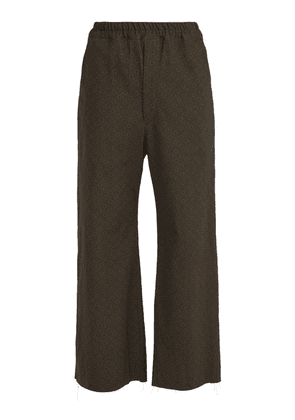 By Walid - Jacques Raw Edge Cotton Trousers - Mens - Grey