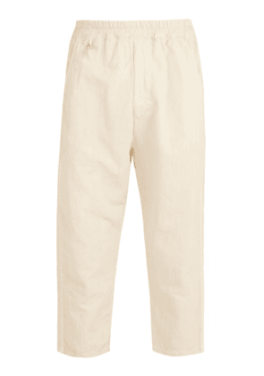 By Walid - Morton 19th Century Linen Cropped Trousers - Mens - Cream