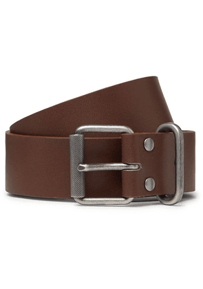 A.P.C. - 3.5cm Brown Leather Belt - Brown