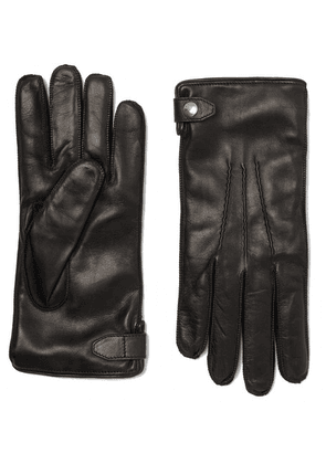 Dunhill - Duke Cashmere-lined Leather Gloves - Black