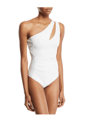 Ani One-Shoulder Solid One-Piece Swimsuit