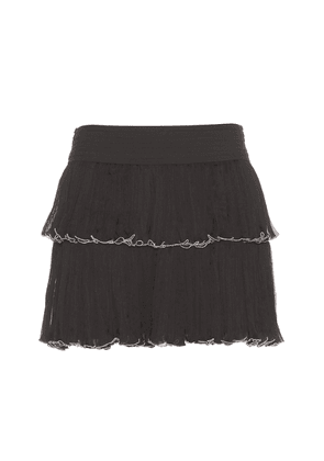 Waida silk skirt