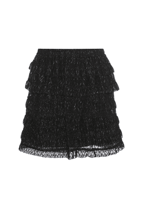 Fil coupé ruffled skirt