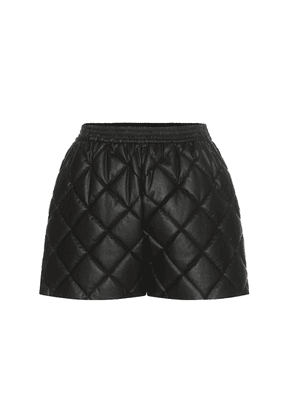 Cesira quilted faux leather shorts