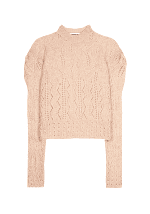 Mohair-blend knitted sweater
