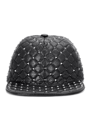 Valentino Garavani Rockstud leather hat