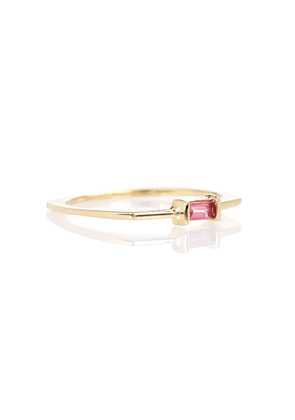 Aro Baguette 9kt gold and pink tourmaline ring