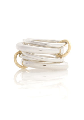 Vela sterling silver and 18k gold linked rings