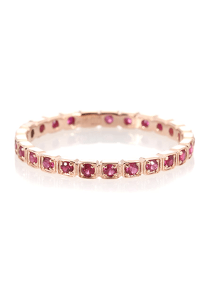Wheat Eternity 14kt rose gold ring with rubies