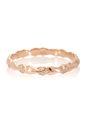 Tiny Sheaves 14kt rose gold and diamonds ring