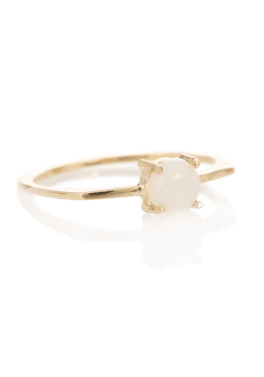 Aro 9kt gold ring with opal