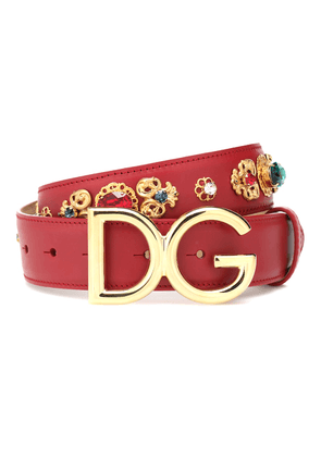 DG embellished leather belt