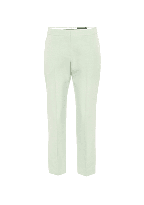 Cropped mid-rise cigarette pants