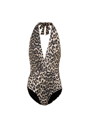 Leopard-printed swimsuit