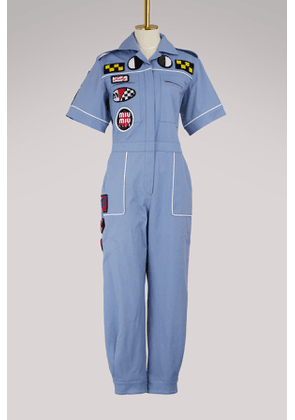 Patches embroidered jumpsuit