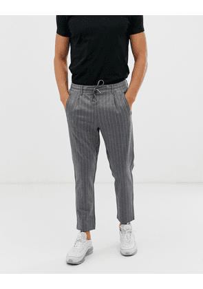 Jack & Jones tapered trouser in tailored fabric and vertical stripe