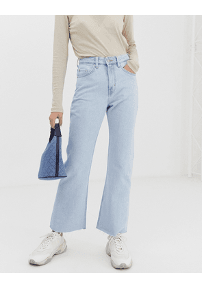 Weekday bootcut jeans in light wash