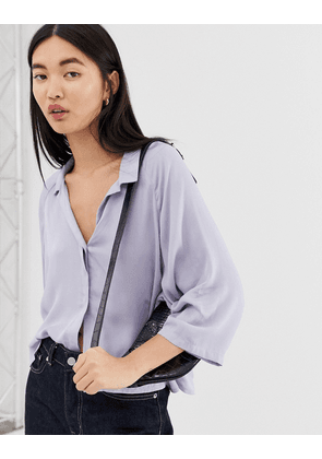 Weekday Franca Blouse in Lilac