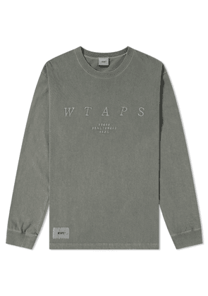 WTAPS Long Sleeve Design System Tee Olive Drab