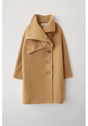 Acne Studios FN-WN-OUTW000052 Camel brown  Funnel neck coat