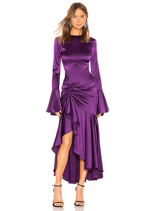 Caroline Constas Monique Dress in Purple. Size M,S,XS.