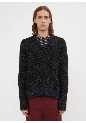 Marni Speckled Knit Sweater in Black size EU - 48