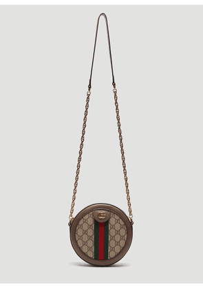 Gucci Ophidia Mini GG Round Shoulder Bag in Brown size One Size