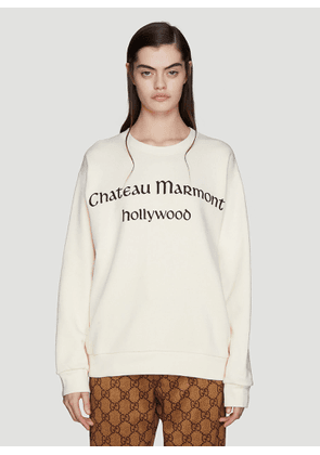 Gucci Chateaux Marmont Sweatshirt in White size XS