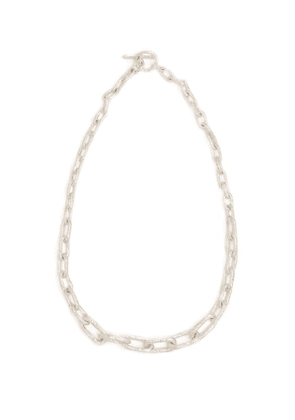 Pearls Before Swine - Chain Link Choker Necklace - Mens - Silver