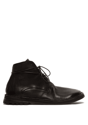 Marsèll - Grained Leather Boots - Mens - Black