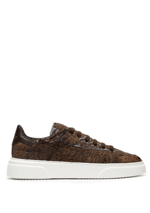 By Walid - 19th Century Panelled Low Top Trainers - Mens - Beige