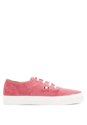 Aprix - Corduroy Low Top Trainers - Mens - Pink