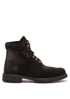 Off-white - X Timberland Velour Boots - Mens - Black