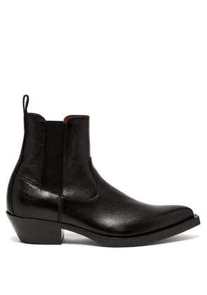 Givenchy - Western Grained Leather Boots - Mens - Black