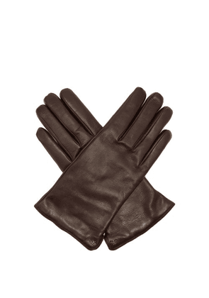 Gucci - Bee Embellished Leather Gloves - Mens - Brown