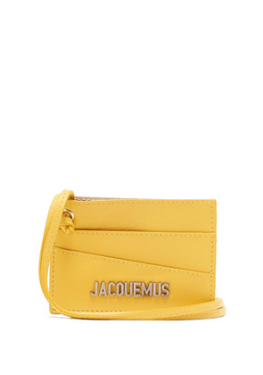 Jacquemus - Leather Necklace Cardholder - Mens - Yellow