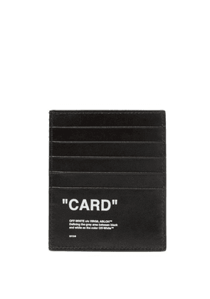 Off-white - Quote Leather Cardholder - Mens - Black