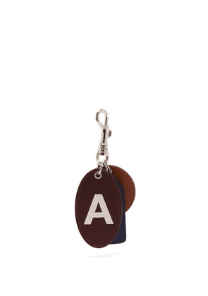 A.p.c. - Logo Letters Leather Key Ring - Mens - Multi
